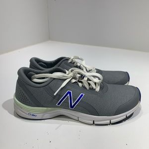 New BalanceWomen's Adult Grey With Blue Size 8.5